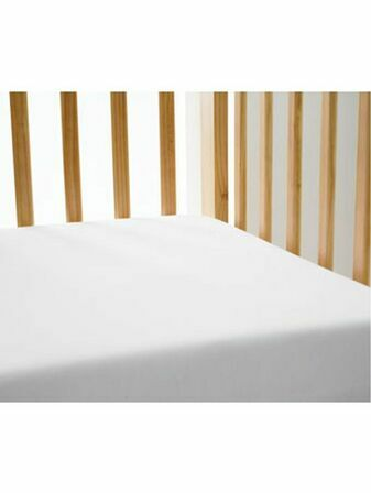 Cot Bed Single Fitted Sheet - White