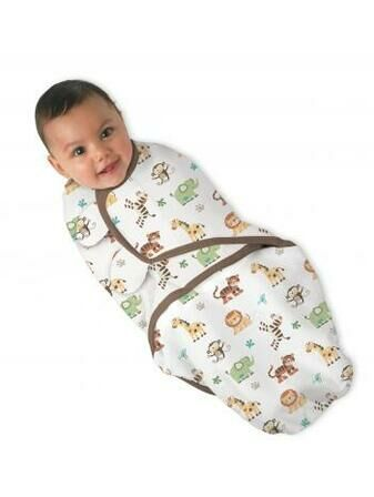 SwaddleMe Adjustable Infant Wrap - Jungle Design 7-14 Ibs