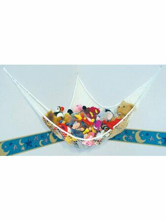 Multi-Purpose Nylong Mesh Toy Hammock with Hooks & Suction Cups