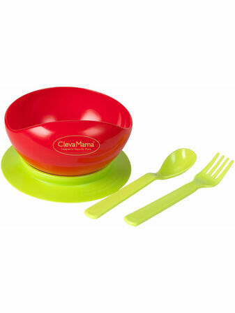 Clevamama Easy Feed Suction Bowl and Cutlery