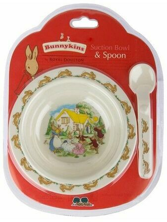 Great Gizmos Bunnykins Suction Bowl & Spoon - Playing Bunnies
