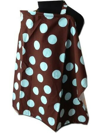 Palm & Pond Baby Blue Polka Dot Adjustable Breastfeeding Cover