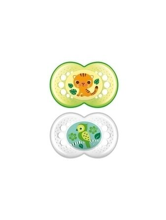MAM Crystal Soother 2 Pack 6 months + - Neutral colours