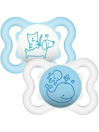 MAM Air Soother 0+ months 2 Pack - Boy's Colours