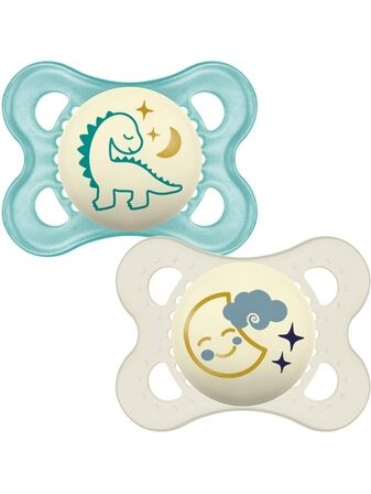 MAM Night Soother 0+ months 2 Pack