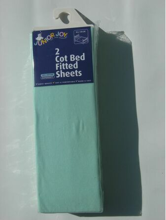 Fitted Cotbed Sheets 2 x fitted cot bed sheets per pack - Green
