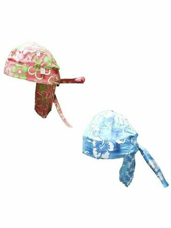 Baby UV Ray Protection Bandana Hawaii - Blue or Pink
