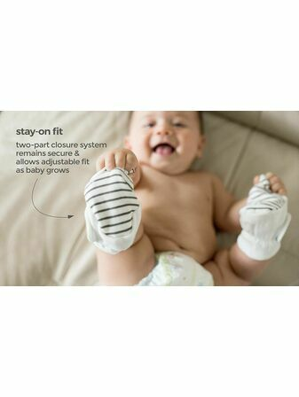 Goumi Kids Soft Stay On Booties which adjust to fit as your baby grows Bamboo/Organic Cotton Boots
