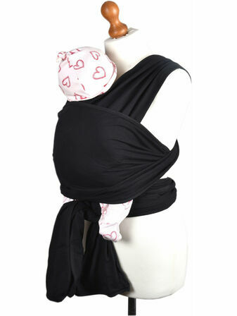Palm and Pond Stretchy Black Cotton Baby Wrap Sling