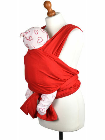 Palm and Pond Stretchy Cotton Baby Wrap Sling - Red