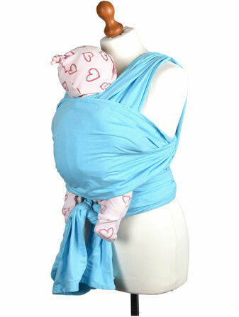 Palm and Pond Stretchy Cotton Baby Wrap Sling - Baby Blue