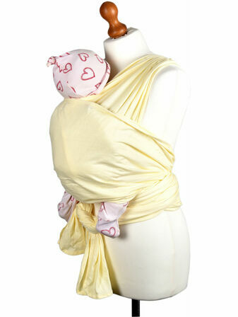 Palm and Pond Stretchy Cotton Baby Wrap Sling - Cream
