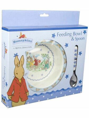 Bunnykins Melamine Feeding Bowl & Spoon - Shining Star