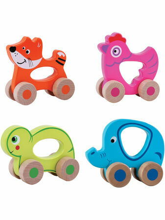 Jumini Push Along Friends natural Wood Development Toy - Choose your next BFF