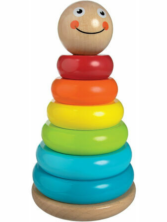 Jumini Wobbly Stacker Natural Wood Development Toy