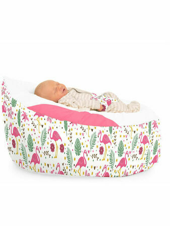 Luxury Cuddle Soft Flamingo pre-filled Baby Bean Bag