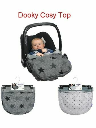 Dooky Cosy Top universal fleeced lined Cosytoe car seat cover - Choose your design