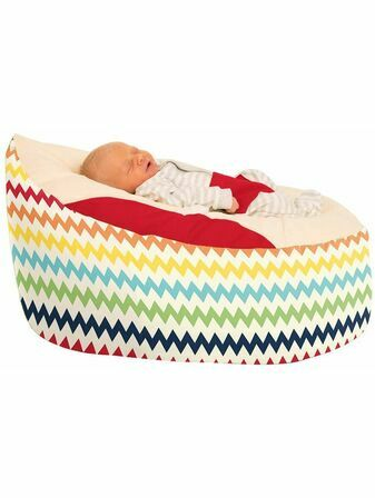 Gaga™ Cuddlesoft Chevron Baby Beanbag - Choose your colour