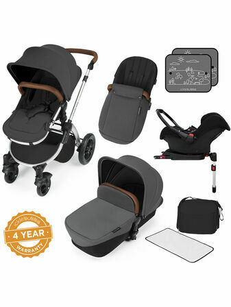 Ickle Bubba Stomp v3 All In One Travel System with i-Size Mercury Car Seat and Isofix Base