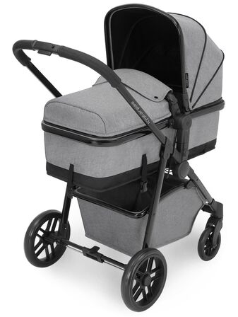 Ickle Bubba Moon 3 in 1 Travel System With Galaxy 0+ Car Seat and Isofix Base