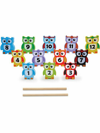 Jumini Stacking Owls Game 12 Pieces
