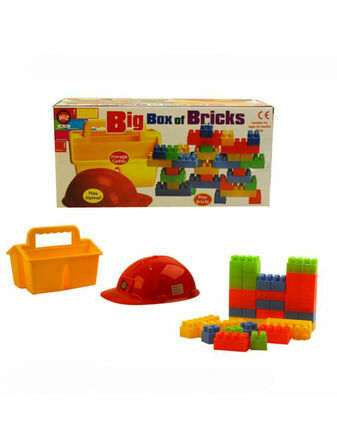 AtoZ Big Box of Bricks 1 x Caddy, 35 Bricks, 1 x Play Helmet, 24+ mths