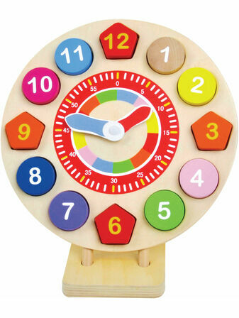 Jumini Wooden Clock 36+ mths