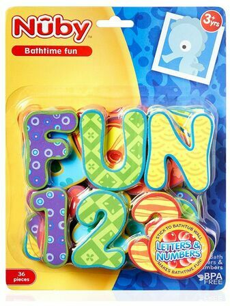 Nuby Bathtime Fun - Letters & Numbers 36 pieces