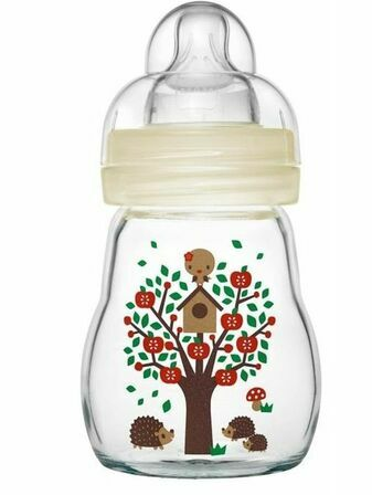 Feel Good Glass Baby Bottle 170ml Unisex