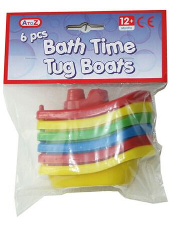 Bath Time Tug Boats - 6 pcs