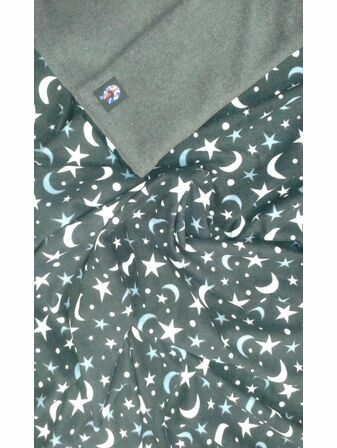 Genesis Printed Fleece Footmuff - Moon & Star MADE IN UK