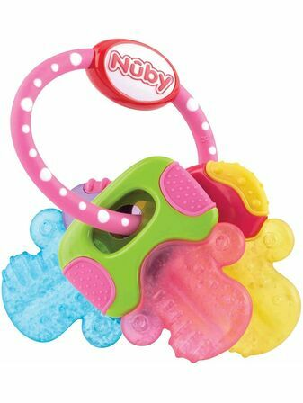 Nuby Icy Bite Teether Keys - Pink