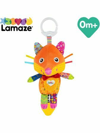 LAMAZE Flannery the Fox Baby Sensory Toy, Clip On Baby Pram Toy & Pushchair Toy with Baby Teether