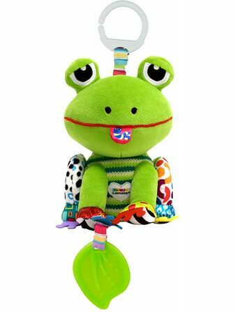 Lamaze Jibber Jabber Jake Baby Toy, Clip on Pram and Pushchair Toy, Soft Cuddly Newborn Baby Toy Frog 0+ mths