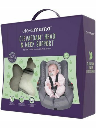 Clevamama ClevaFoam Head and Neck Support - Car Seat and Pram Insert (+0 Months) Grey/Purple