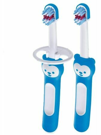 MAM Baby Brush with Safety Shield  2 Pack - Choose your colour