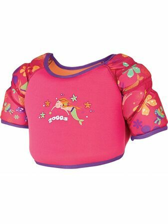 Zoggs Mermaid Flower Water Wing Swim Vest 4-5 years