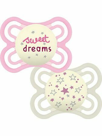 MAM Perfect Night Soother 2 Pack 0+ mths - Sweet dreams - Choose your design