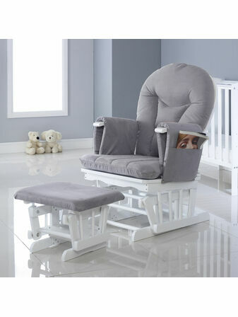 Babyhoot Alford Glider Chair and Stool by Ickle Bubba