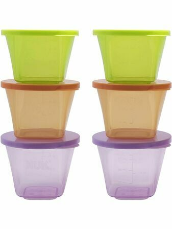 NUK Stackable Food Pots - 6 Pack