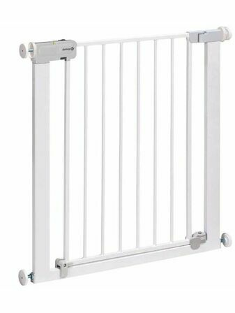 Safety 1st U-Pressure Fit Auto Close Metal Stairgate - White