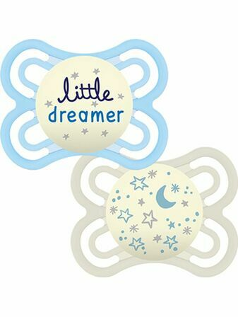 MAM Perfect Night Soother 2 Pack 6+ mths - Great designs available