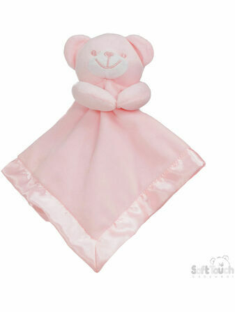 Soft Touch Baby Teddy Bear Blanket Comforter - Choose your colour