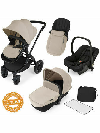 Ickle Bubba Stomp V2 All-in-One Travel System - Sand With Black Frame