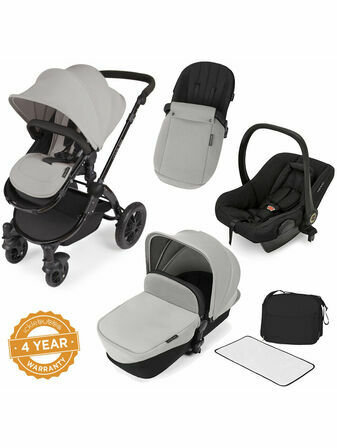 Ickle Bubba Stomp V2 All-in-One Travel System - Silver With Black Frame