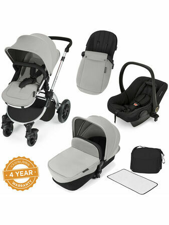 Ickle Bubba Stomp V2 All-in-One Travel System - Silver With Silver Frame