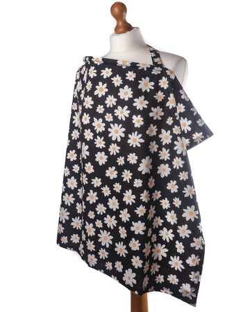 Palm and Pond Breastfeeding Cover - Black Daisies