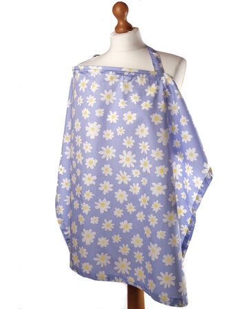 Palm and Pond Breastfeeding Cover - Lilac Daisies