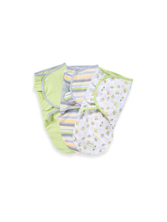 SwaddleMe Cotton Knit Small - Green 3 Pack