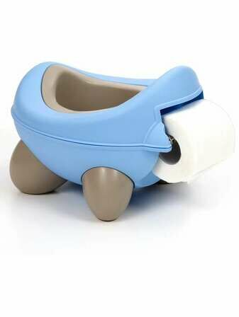 Kids Kit Baby Bug Potty - Blue & Beige